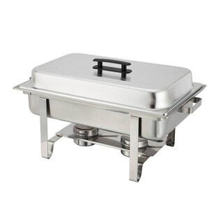 FortheChef Atlas 8 Qt. Stainless Steel Full-Size Chafer