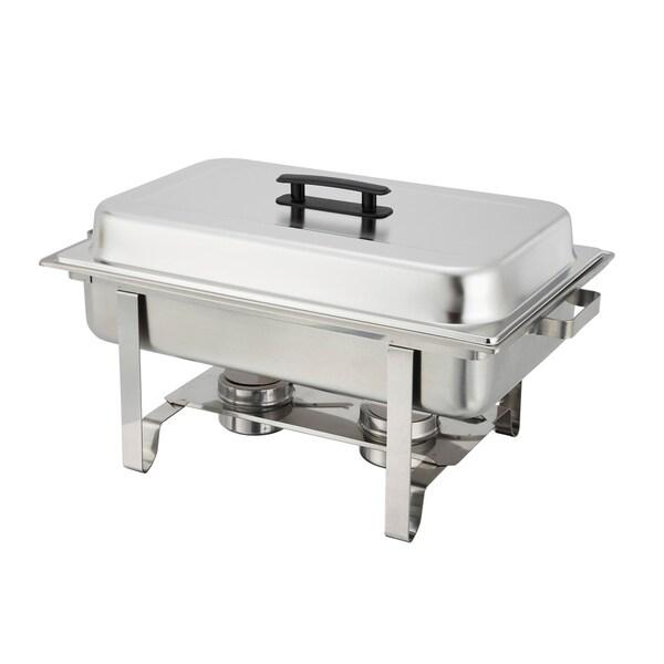 Winco 8-Quart Newburg Stainless Steel Rectangular Chafing Dish