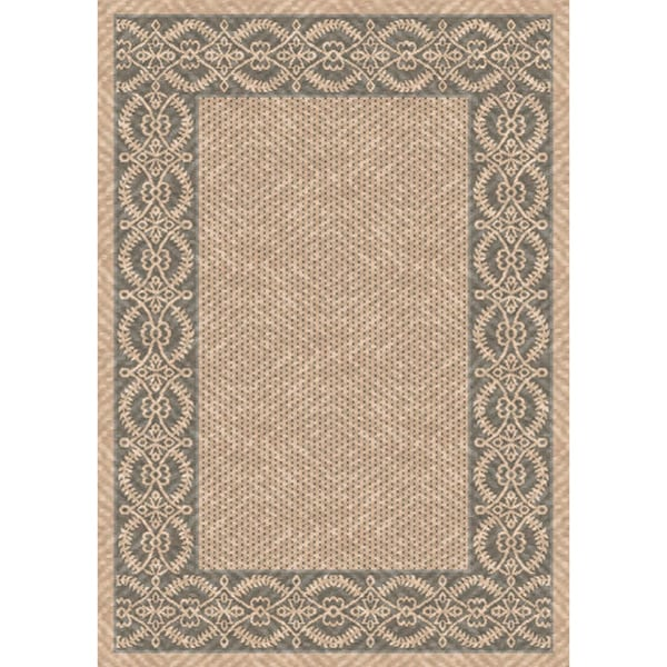 Woven Indoor/ Outoor Patio Rug Bombay Beige and Gray (2'7 x 5'11)