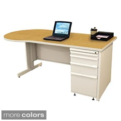 Marvel Zapf Office Desk with Built-in File Storage Cabinet (72 x 30)