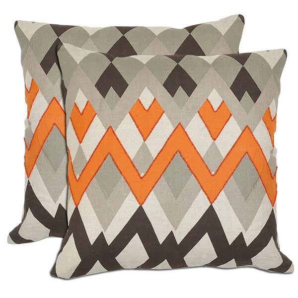 Kosas Home Bella ZigZag Linen Throw Pillows (Set of 2)