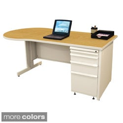Marvel Zapf Office Desk with Built-in File Storage Cabinet (60 x 30)