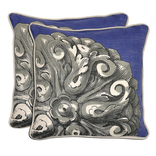 Kosas Home Bella Tail Print Linen Throw Pillows (Set of 2)