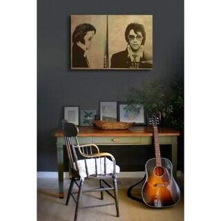 Oliver Gal Artist Co. 'Elvis Mugshot' Canvas Print - Sepia
