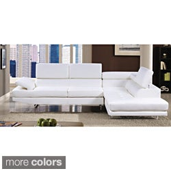Furniture of America Contemporary 2-piece Sectional with Adjustable Headrest|//  sc 1 st  Overstock.com : sectional white - Sectionals, Sofas & Couches