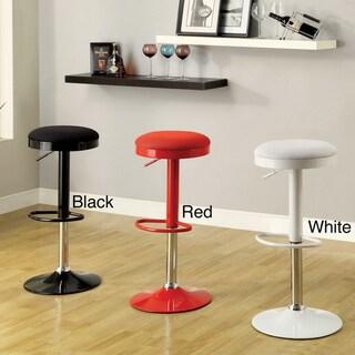 Furniture of America Elroy Mesh Adjustable Swivel Bar Stool Set (Set of 2)