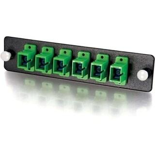 C2G Q-Series 6-Strand, SC, Zirconia Insert, SM, APC, Green SC Adapter
