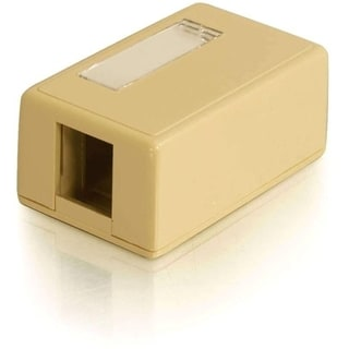 C2G 1-Port Keystone Jack Surface Mount Box - Ivory