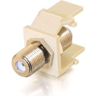 C2G Snap-In F-Type F/F Keystone Insert Module - Ivory