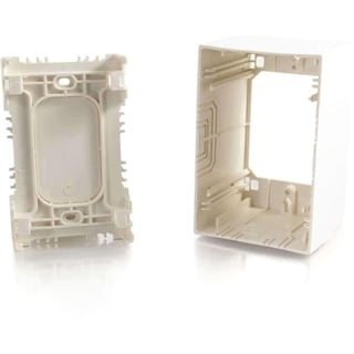 C2G Single Gang Extra Deep Junction Box Ivory