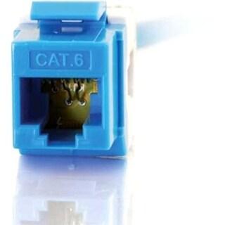C2G 180° Cat6 RJ45 UTP Keystone Jack - Blue