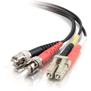 C2G 2m LC-ST 62.5/125 OM1 Duplex Multimode PVC Fiber Optic Cable - Bl