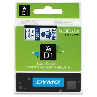 Dymo Blue on White D1 Label Tape