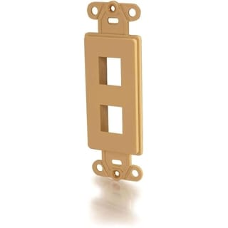 C2G Two Port Keystone Decorative Style Wall Plate - Ivory
