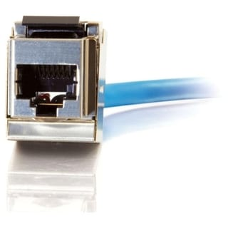 C2G 90 Cat6 RJ45 UTP Shielded Keystone Jack - Silver