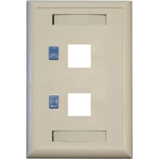 Tripp Lite Dual Outlet RJ45 Universal Keystone Face Plate / Wall Plat