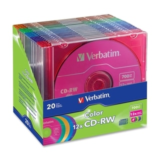 Verbatim CD-RW 700MB 4X-12X DataLifePlus with Color Branded Surface a