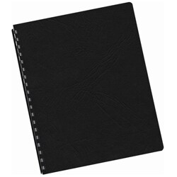 Black Grain Texture Oversized Binding Covers