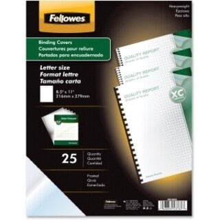 Fellowes Futura Presentation Covers Letter, Frosted 25 pk