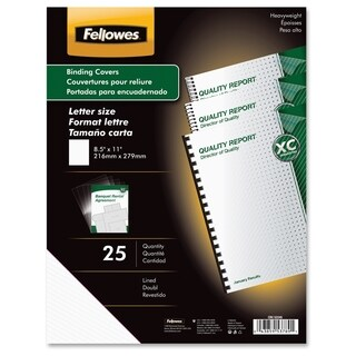 Fellowes Futura Presentation Covers - Letter, Lined, 25 pack