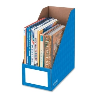 Bankers Box 6-inch Blue Magazine File Box (Pack of 3)