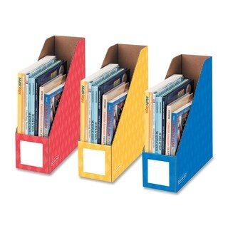 4-inch Primary Colors Magazine File (Pack of 3)