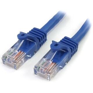 StarTech.com 1 ft Blue Cat5e Snagless RJ45 UTP Patch Cable - 1ft Patc