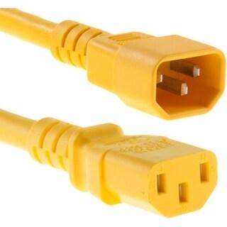 Unirise 1ft Power Cord C13-C14 Yellow