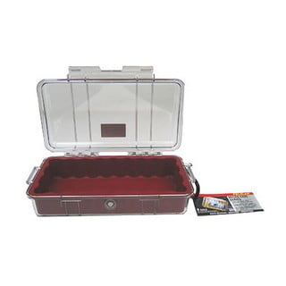 Pelican Red Micro Case 1060 with Clear Lid