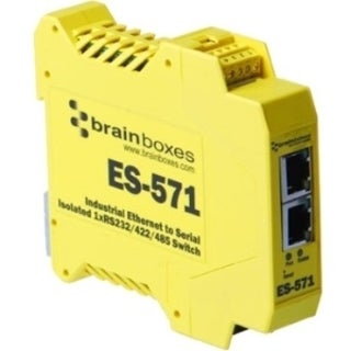 Brainboxes Es-571 Industrial Isolated Ethernet to Serial + Switch