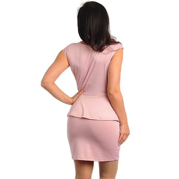Shop Stanzino Women\'s Plus Size Pink Peplum Dress - Free ...