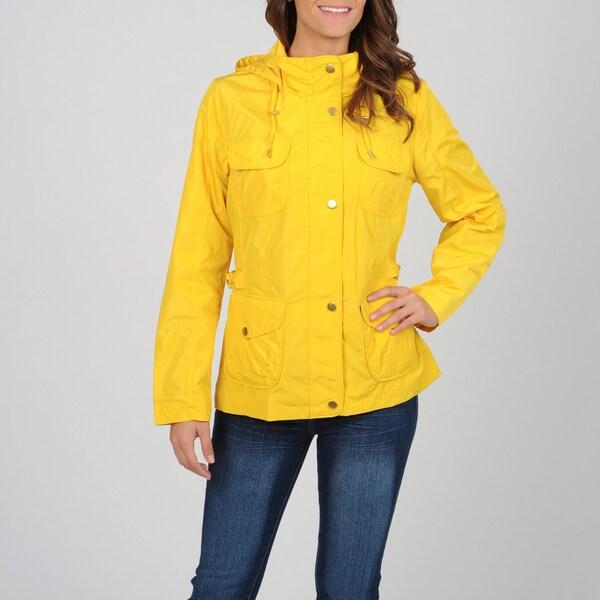 Utex Women's Yellow Water-resistant Hooded Jacket