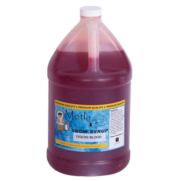 Motla 'Tigers Blood' Snow Cone Syrup (1 Gallon). Opens flyout.