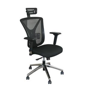 Executive Mesh Chair with Aluminum Base and Headrest