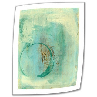 Elena Ray 'Teal Enso' Unwrapped Canvas