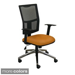 High-Back Mesh Task Chair with Aluminum Base