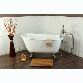 Wonderful Slipper Cast Iron 53 Inch Clawfoot Bathtub