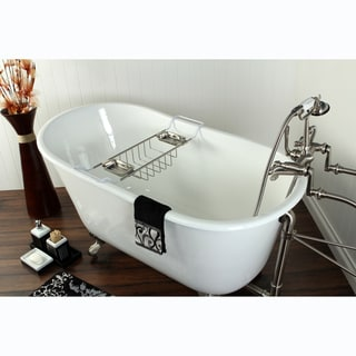 Slipper Cast Iron 53-inch Clawfoot Bathtub