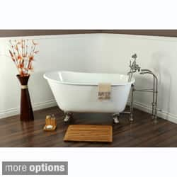 Slipper Cast Iron 53-inch Clawfoot Bathtub|https://ak1.ostkcdn.com/images/products/7784216/Slipper-Cast-Iron-53-inch-Clawfoot-Bathtub-P15178973c.jpg?impolicy=medium