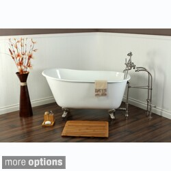 Slipper Cast Iron 53-inch Clawfoot Bathtub