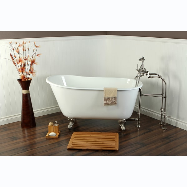 Shop Slipper Cast Iron 53 Inch Clawfoot Bathtub Free