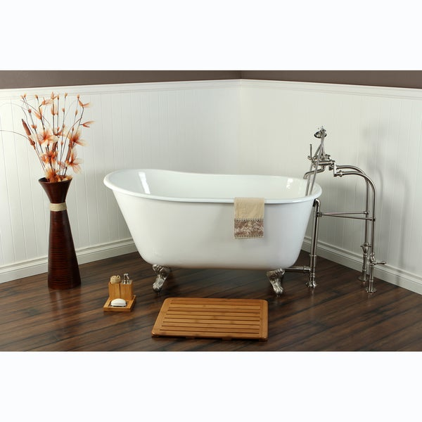Slipper Cast Iron 53 inch Clawfoot Bathtub Free Shipping Today