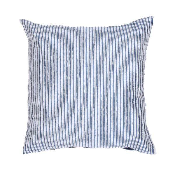 Contemporary Blue Square 18-inch Decorative Pillow