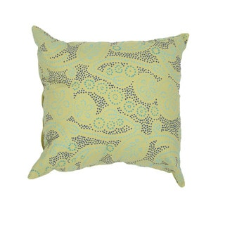 Contemporary Cotton Green Square 18-inch Decorative Pillow