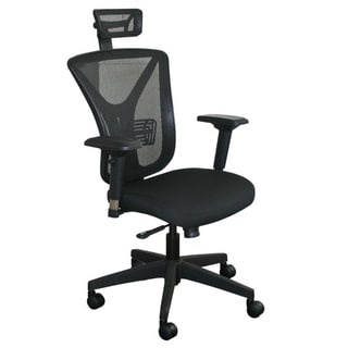Executive Mesh Chair with Black Base and Headrest