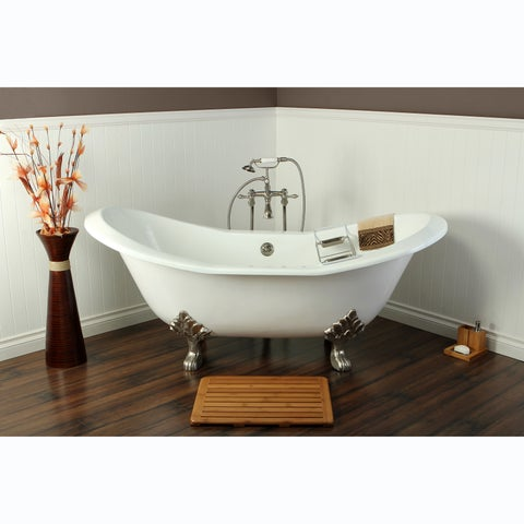 Double Slipper Cast Iron 72-inch Clawfoot Bathtub
