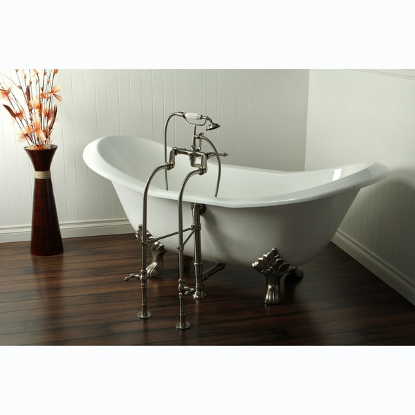 cast iron double slipper clawfoot tub. Double Slipper Cast Iron 72 inch Clawfoot Bathtub  Free Shipping Today Overstock com 15179134