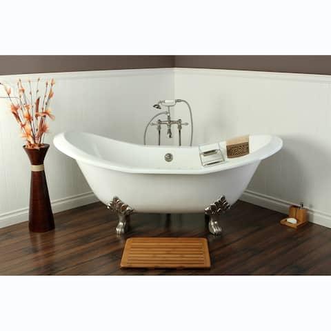 Double Slipper Cast Iron 72-inch Clawfoot Bathtub