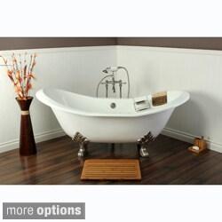 Merveilleux Double Slipper Cast Iron 72 Inch Clawfoot Bathtub