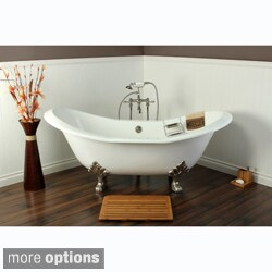 Double Slipper Cast Iron 72-inch Clawfoot Bathtub (3 options available)